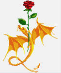 Rose and dragon pattern