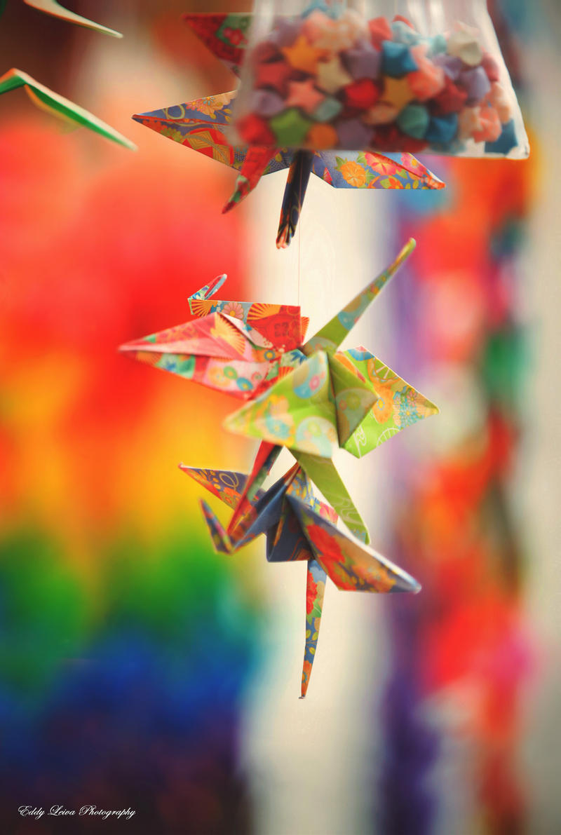 Paper Cranes by MyLifeThroughTheLens