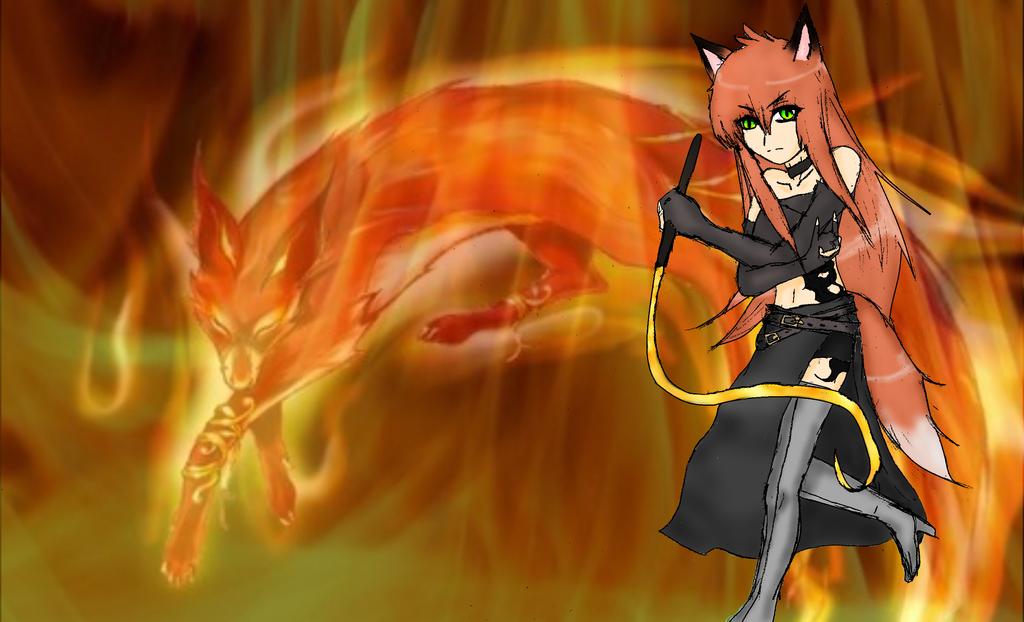 Higurashi the fox fire women by FeeX123 on deviantART