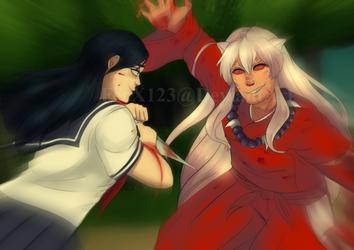 Yandere VS Full Demon *Request* by FeeX123