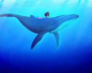 Atargatis on a humpback whale