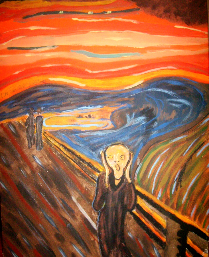 Edvard Munch Remake,The Scream by QuestionZleep on DeviantArt