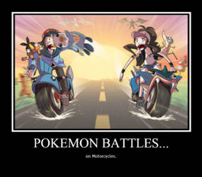 Pokemon Battles on Motorcycles by xDemonChildx