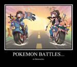 Pokemon Battles on Motorcycles