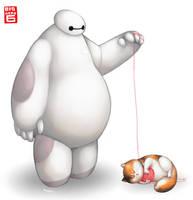 Mochi playtime by kazu-ren