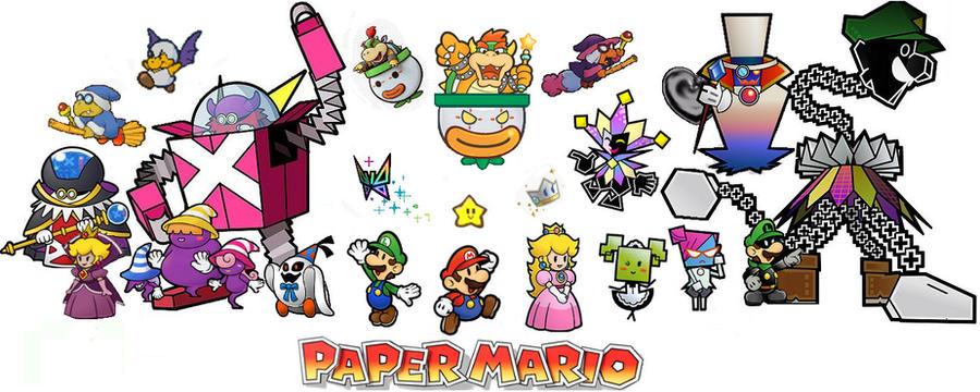 Paper Mario Cast Of Characters By SeltraehTheDarkOne On