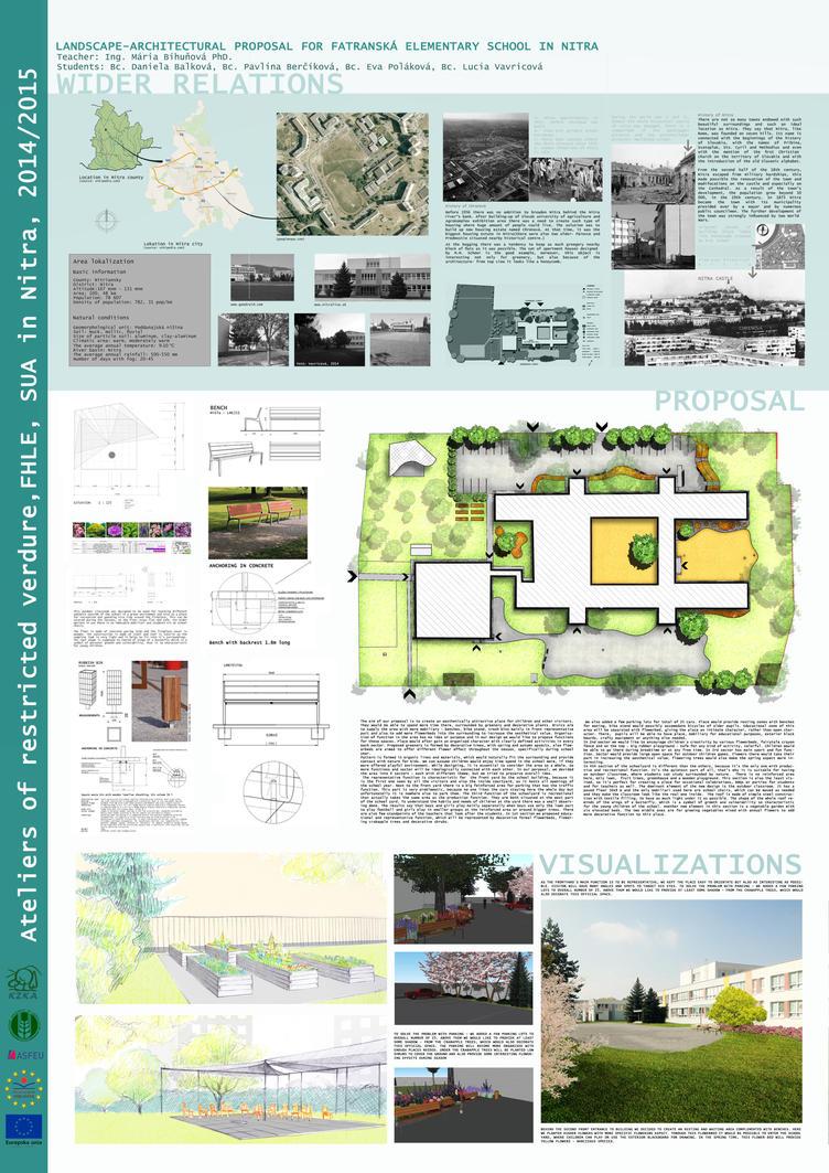 Landscape architecture - school proposal by DanielaBalkova