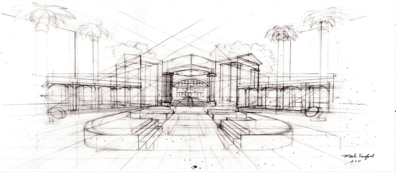 Architecture Sketch By Multiimage