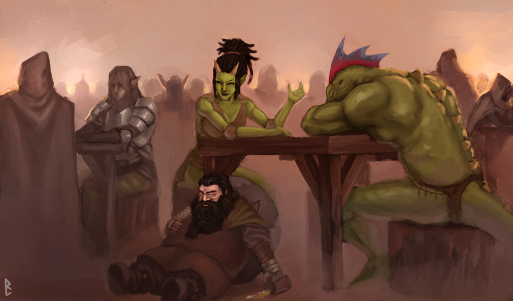Chill in the tavern by TSN551