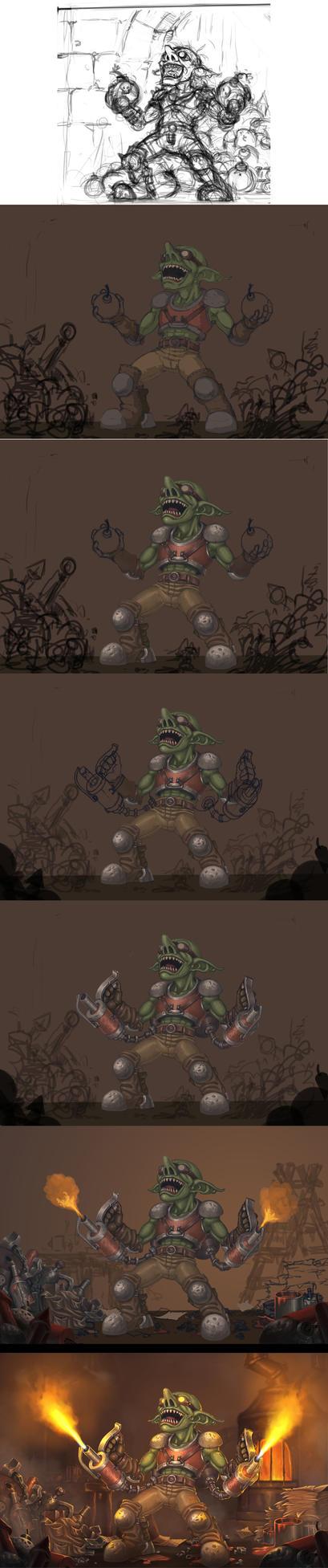 Goblin vs Gnome WIP by ArtDeepMind
