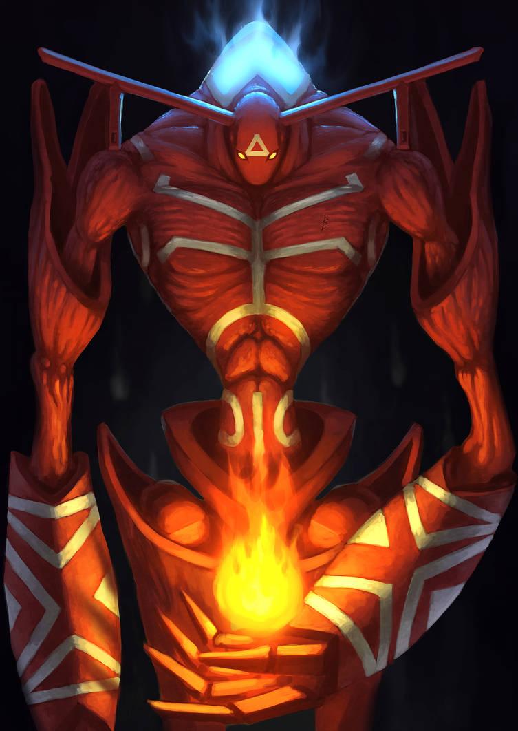 Shaman king Spirit of Fire by ArtDeepMind on DeviantArt