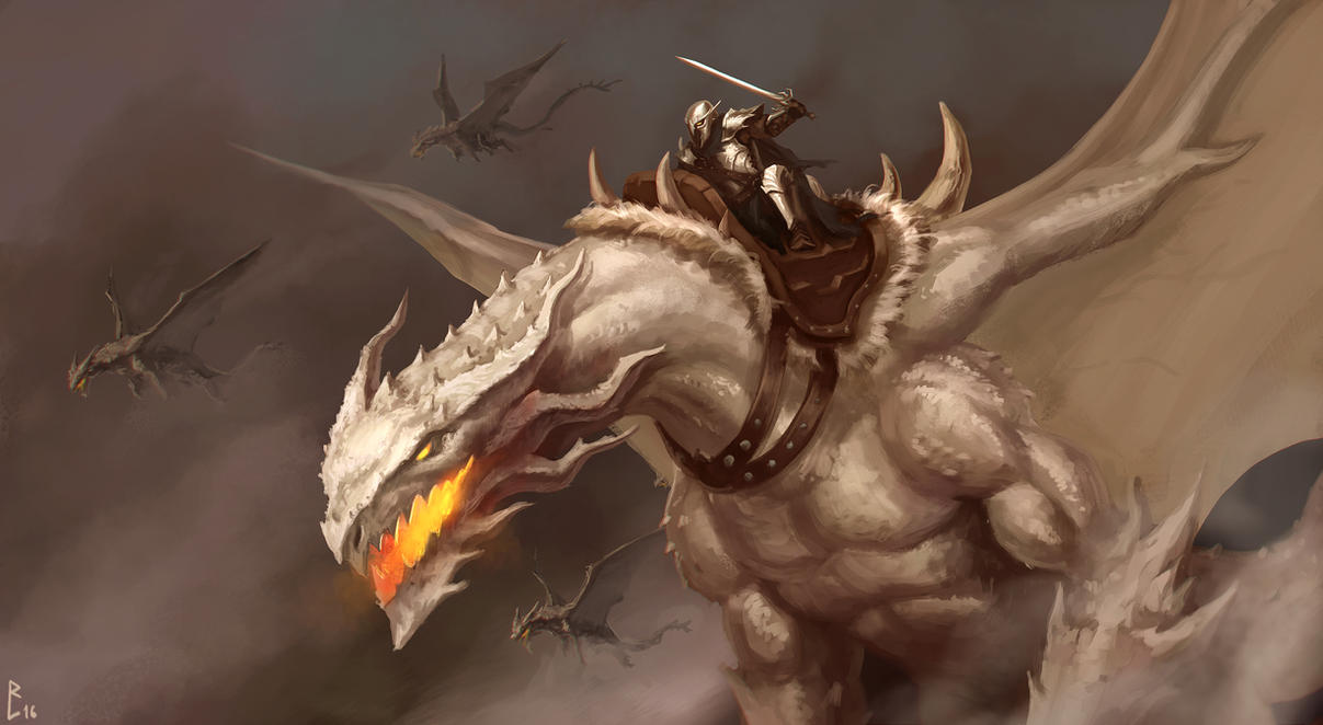 Dragon Rider by ArtDeepMind