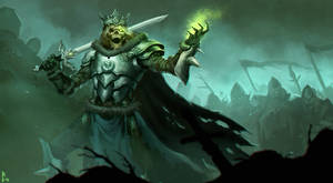 Undead warlord by ArtDeepMind