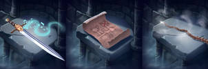Clank! Deck building game items 2 by ArtDeepMind