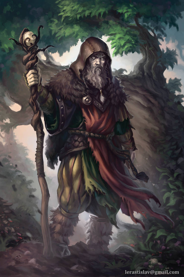 Dead Druid by ArtDeepMind