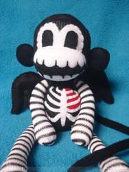 Winged Skeleton Sock Monkey