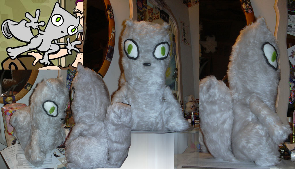 Foamy the Squirrel plush by MinekaC on DeviantArt