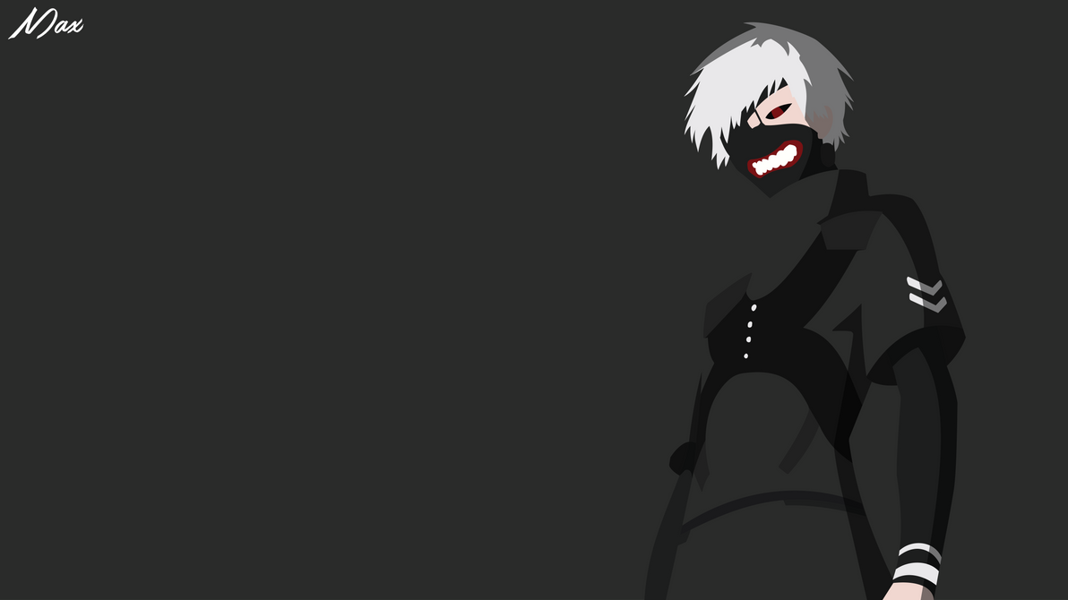 Ken kaneki from tokyo ghoul minimal wallpaper by max028 on for Deviantart minimal wallpaper