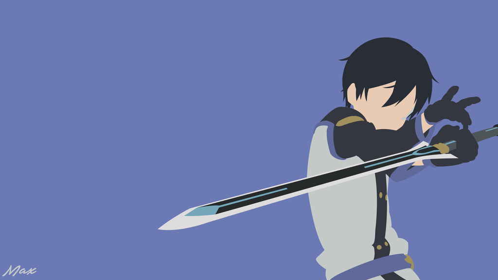 kirito sword art online movie minimal wallpaper by