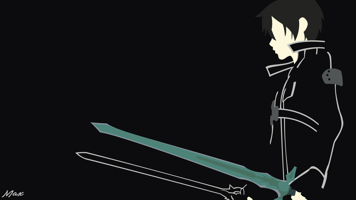 Kirito Black Swordsman Sao Minimal Wallpaper By Max028 On