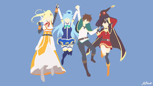 Konosuba Minimal Wallpaper by Max028