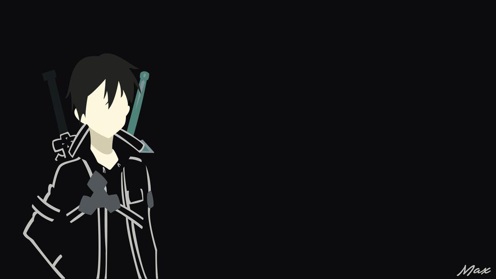 Kirito black swordsman 2 sao minimal wallpaper by max028 for Minimal art online