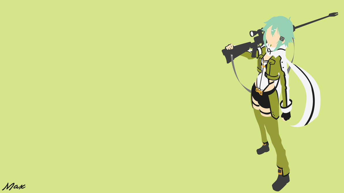Sinon ggo sword art online minimal wallpaper by max028 for Minimal art online