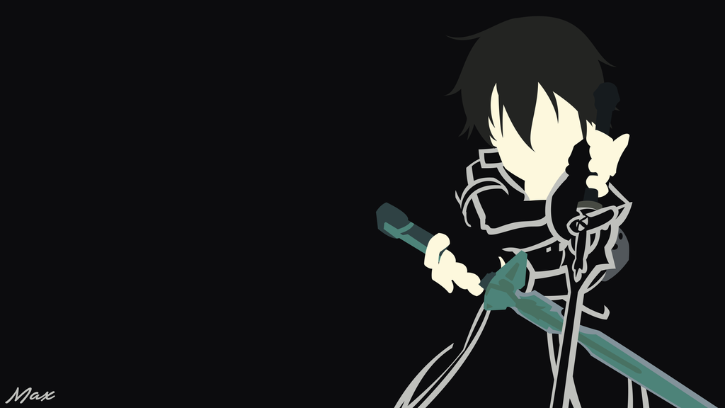 Kirito Black Swordsman 3 (SAO) Minimal Wallpaper by Max028