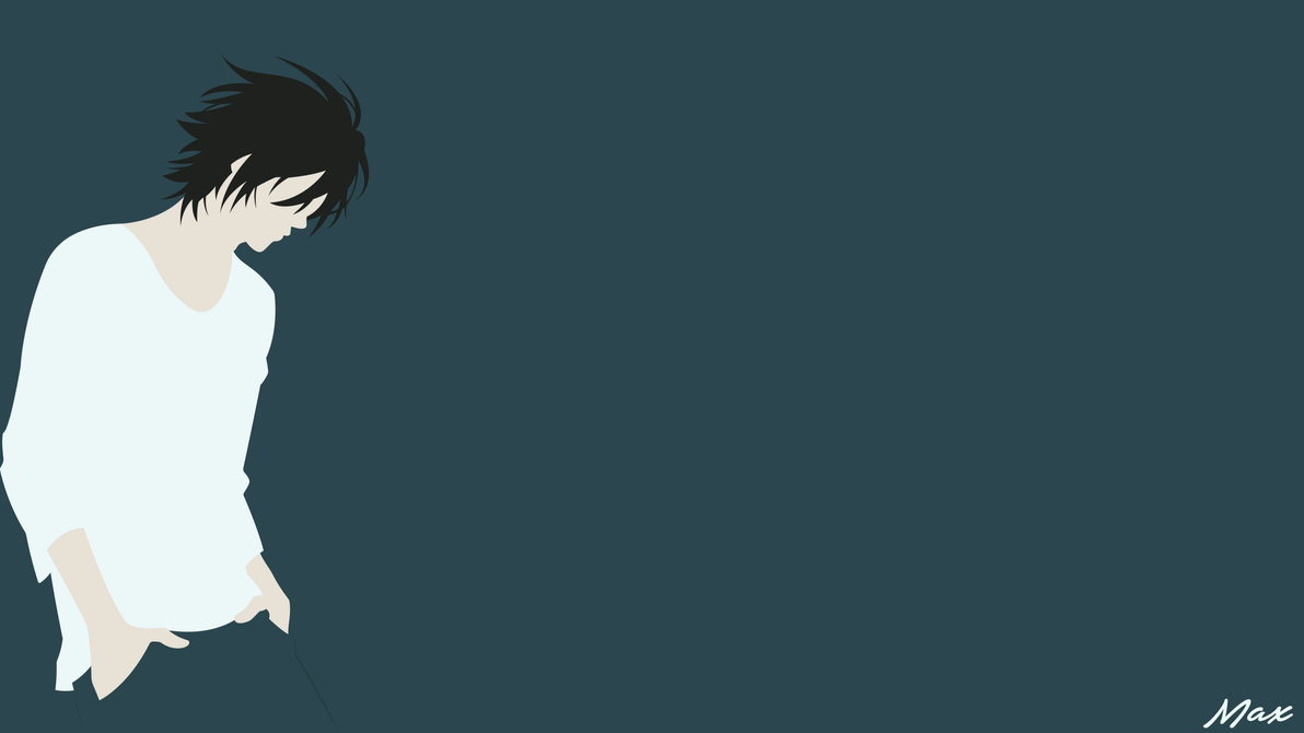 l lawliet death note minimal wallpaper by max028 on