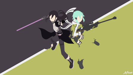 Kirito and Sinon [GGO] (Sword Art Online) Minimal