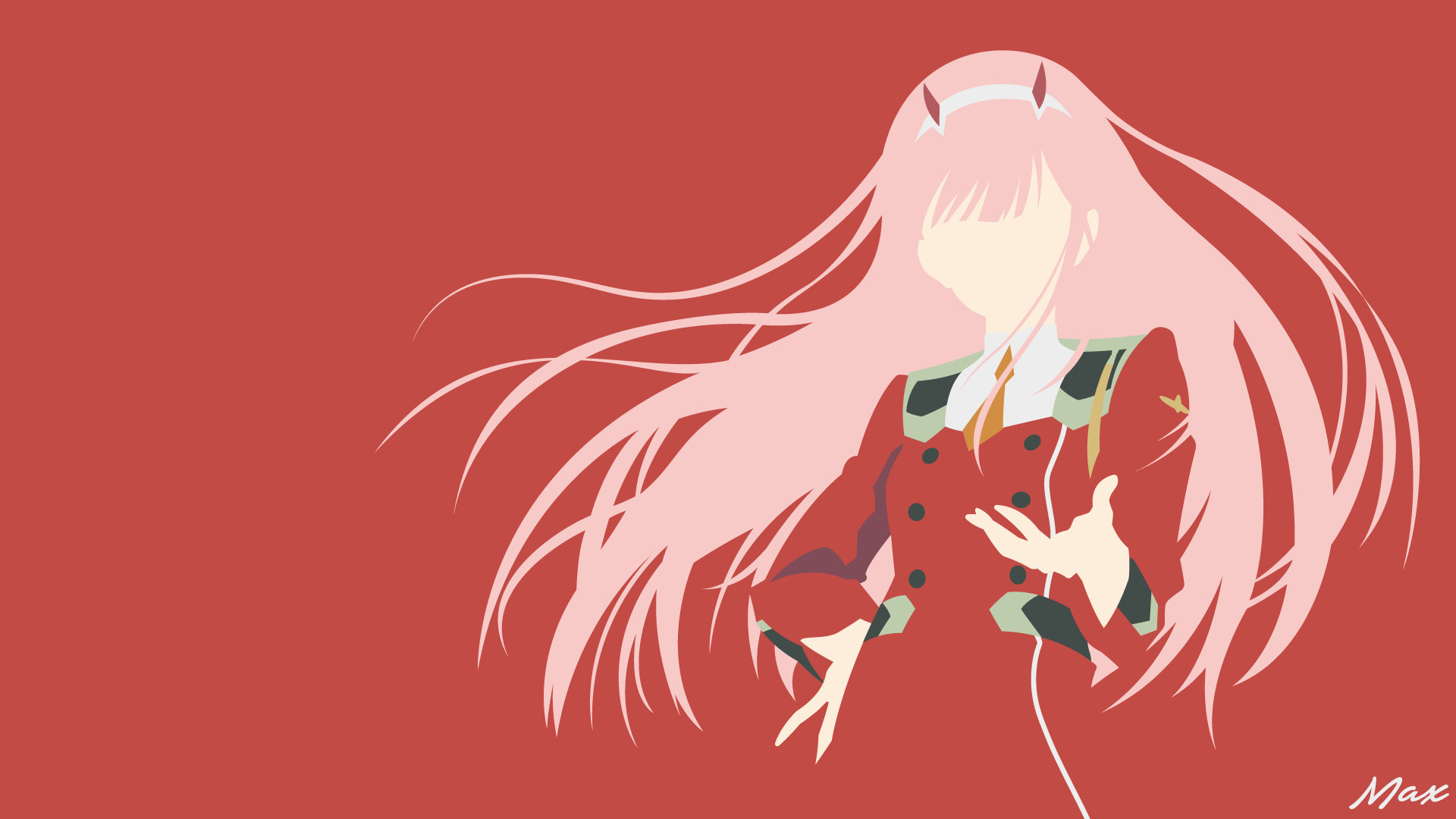 Zero Two Darling In The Franxx Minimalist By Max028 On Deviantart