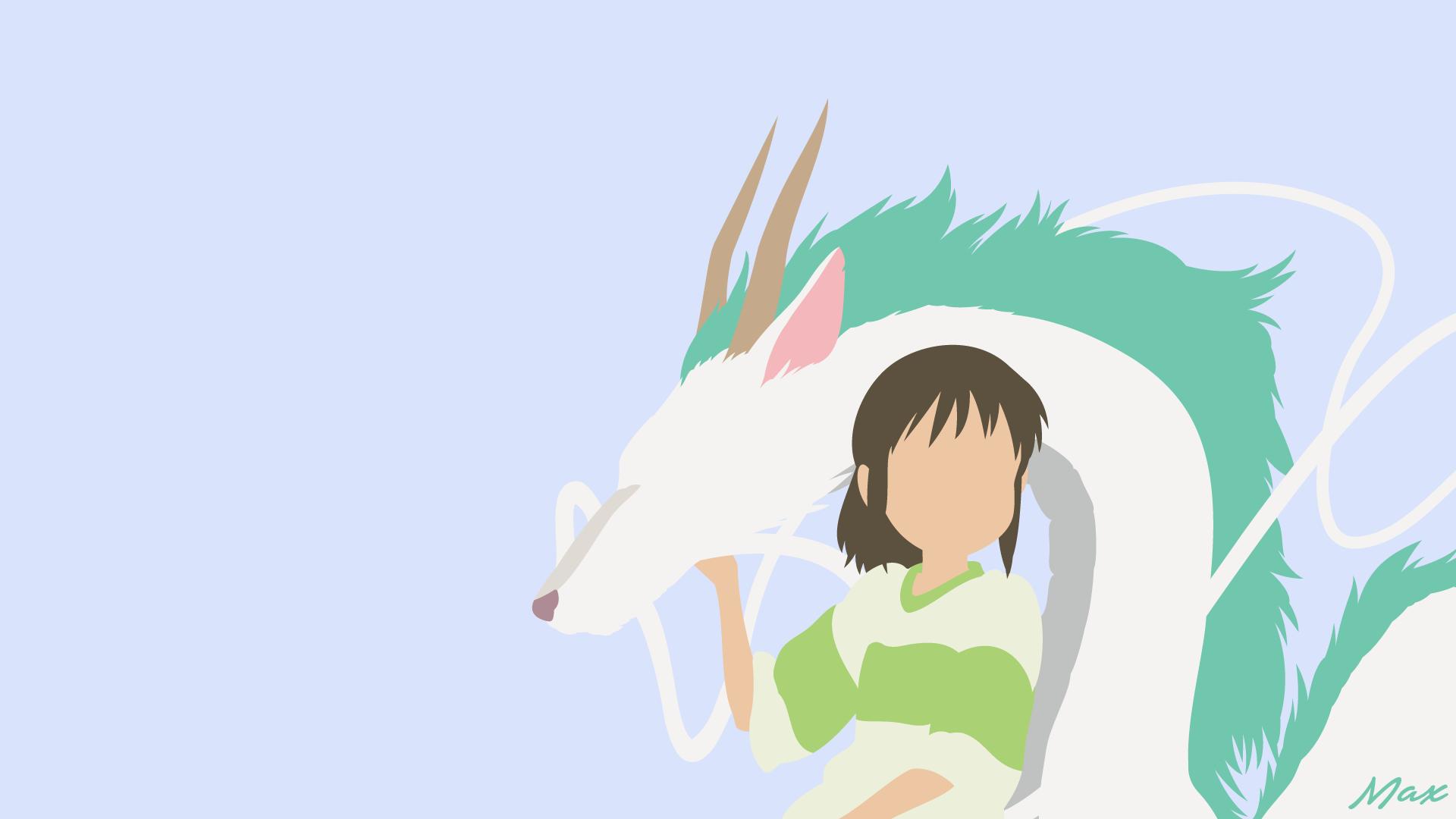 Chihiro And Haku Spirited Away Minimalist By Max028 On Deviantart