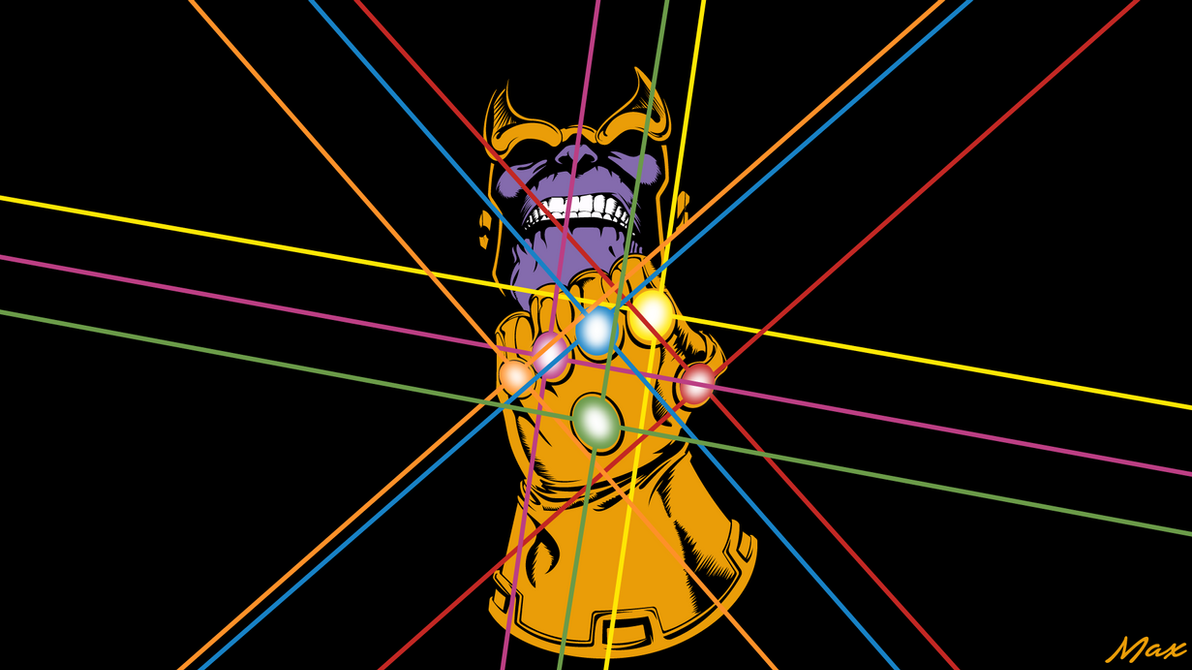 Thanos avengers infinty war amoled by max028 on deviantart - Avengers amoled wallpaper ...