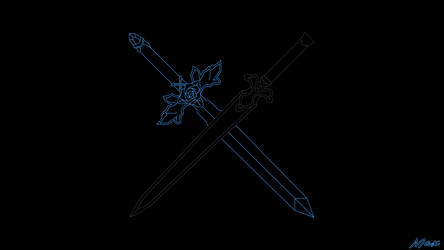Blue Rose Sword x Night Sky Sword by Max028