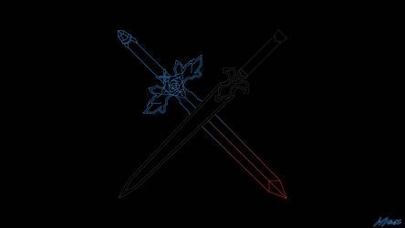 BlueXRed Rose Sword x Night Sky Sword by Max028