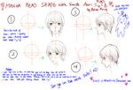 Manga head shape with simple atari