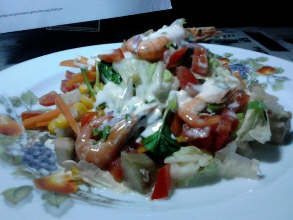Sweet Potato Salad with Shrimp Souce by Adiaz-Airtif