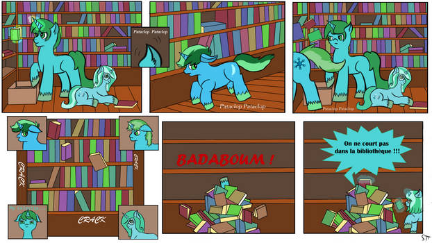 Commission : Canterlot Comics Adventure
