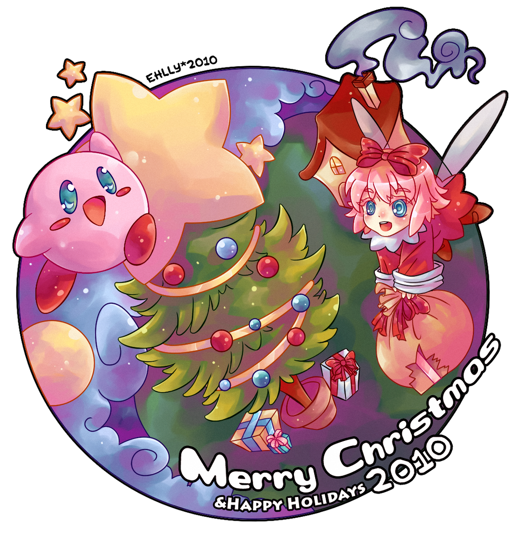 Kirby - Merry Christmas 2010 by ehllychan on DeviantArt