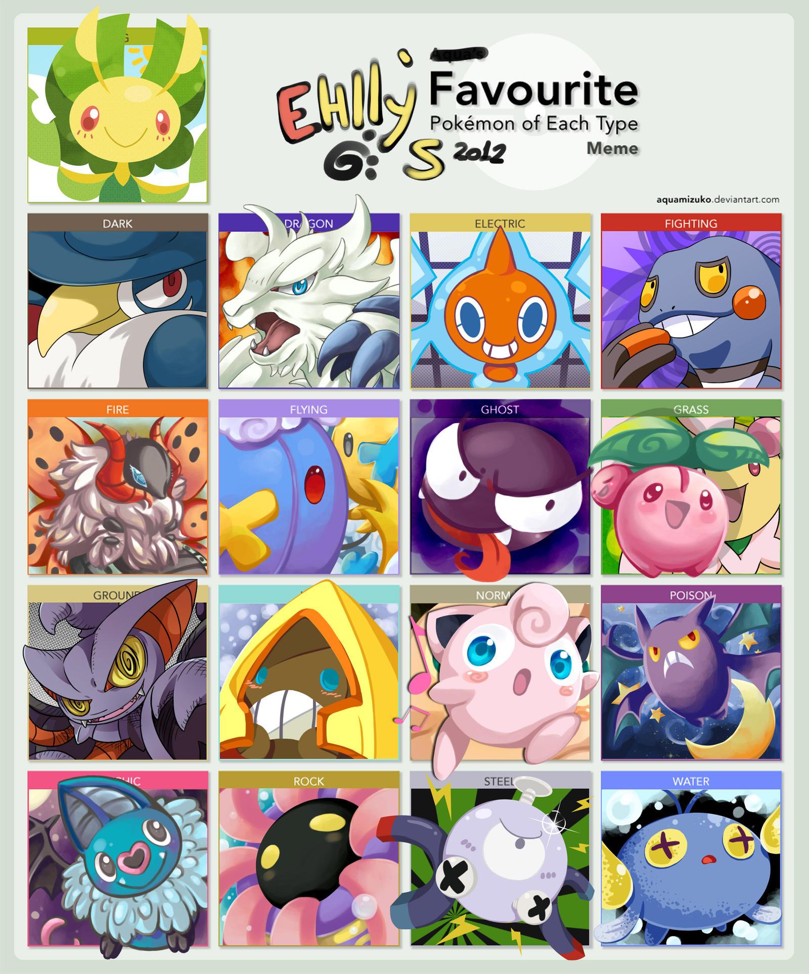 Favorite Pokemon Meme