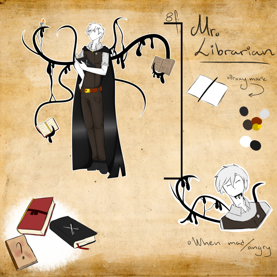 Slenderverse OC- Mr. Librarian by AgentPawz