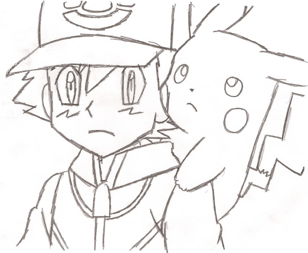 ash ketchum and pikachu by saralovepokemons on deviantart