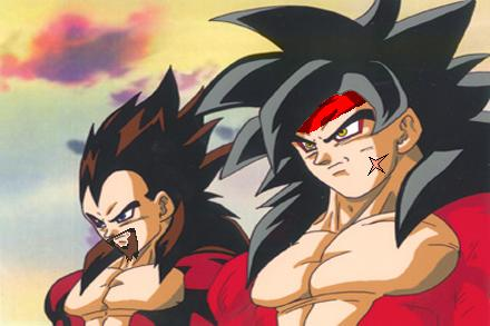 Bardock and King Vegeta SSJ4 by GalianChaos21 on DeviantArt