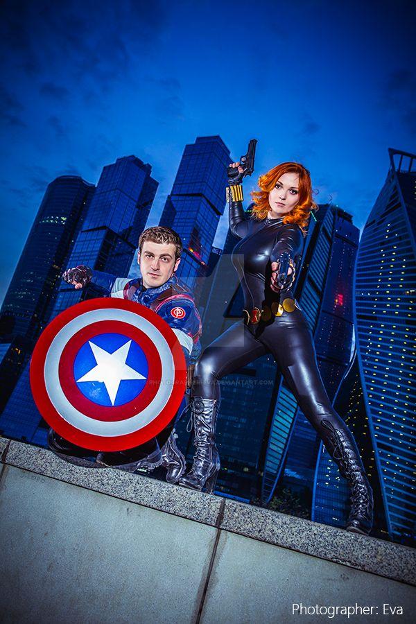 Captain America, Black Widow by photographer-eva