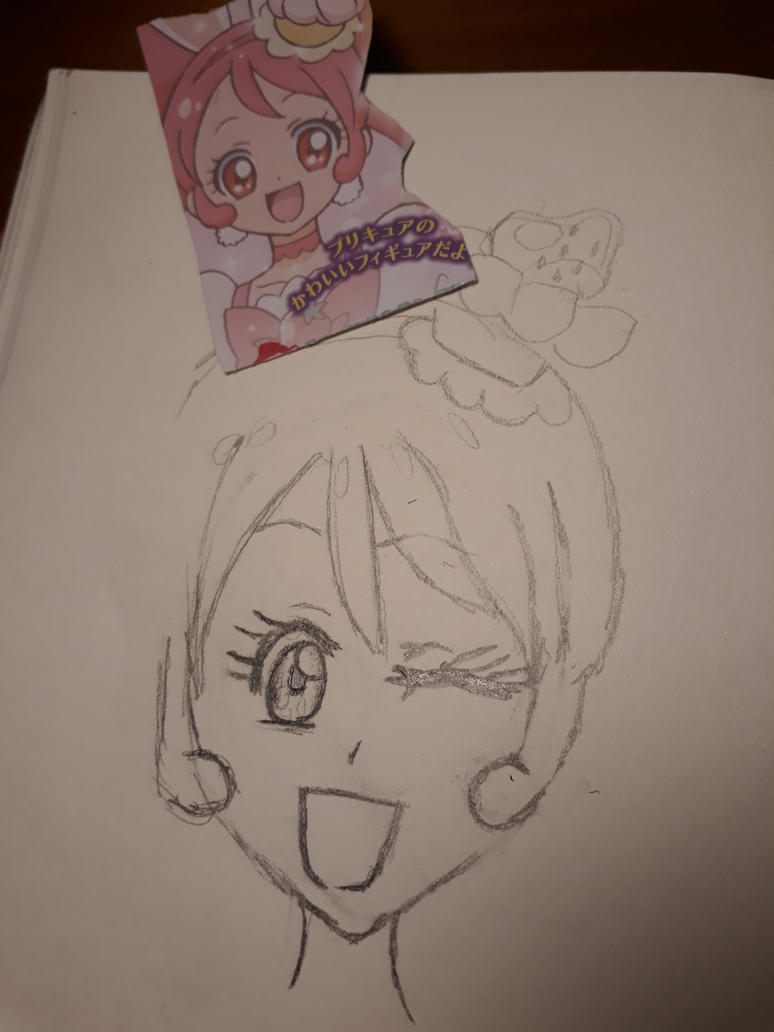 Pretty Cure quick doodle (unfinished) by CatgirlLizzie1234