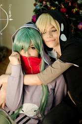 Kido and Kano, sweet hug.