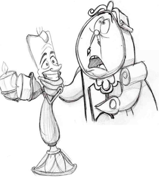 Lumiere And Clogsworth By IllinoisWeasel On DeviantArt