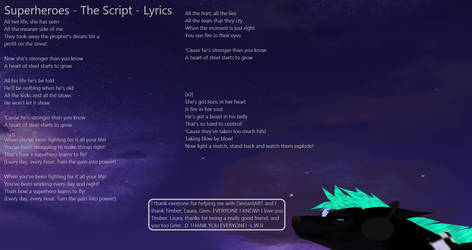 Superheroes - The Script - Lyrics