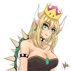 Princess Bowsette [Original Colour] by AreMeerulAmg