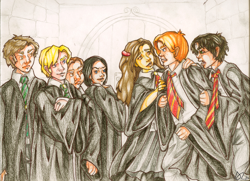Gryffindor VS Slytherin by HermioneGrangerClub